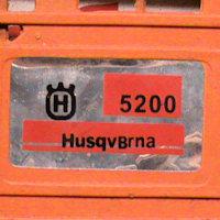 Бензопила HusqBrna 5200 - поддельный логотип